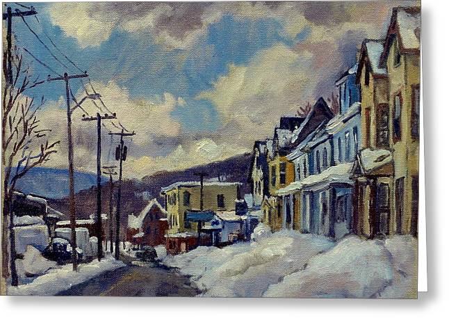 Winter Light North Adams Greeting Card