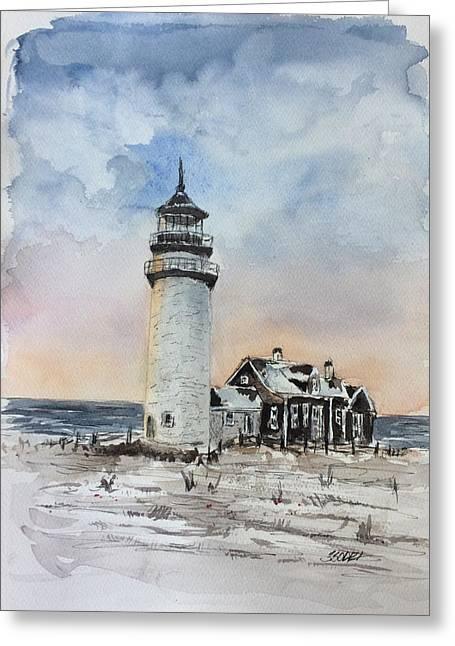 Winter Light Greeting Card by Stephanie Sodel