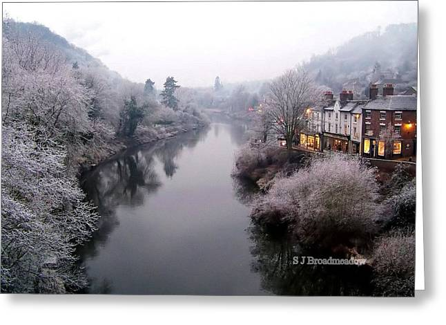 Winter Lights In Ironbridge Greeting Card