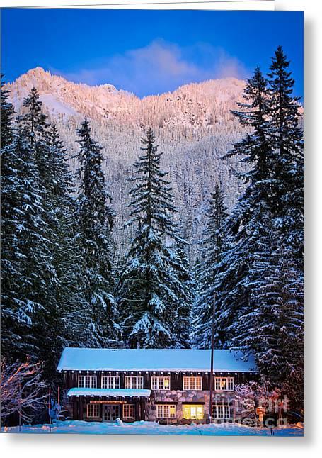 Winter Lodging Greeting Card