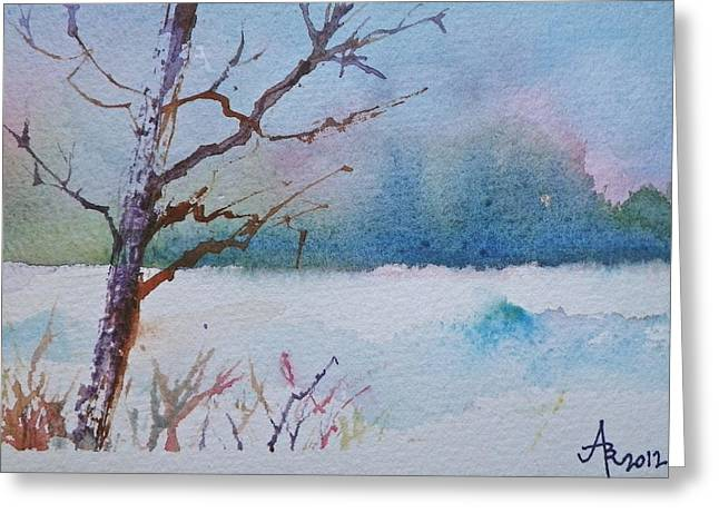 Winter Loneliness Greeting Card
