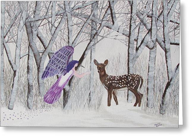 Greeting Card featuring the painting Winter Magic by Cheryl Bailey