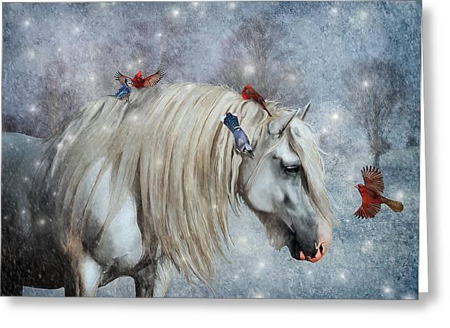 Winter Magic Greeting Card by Lyndsey Warren