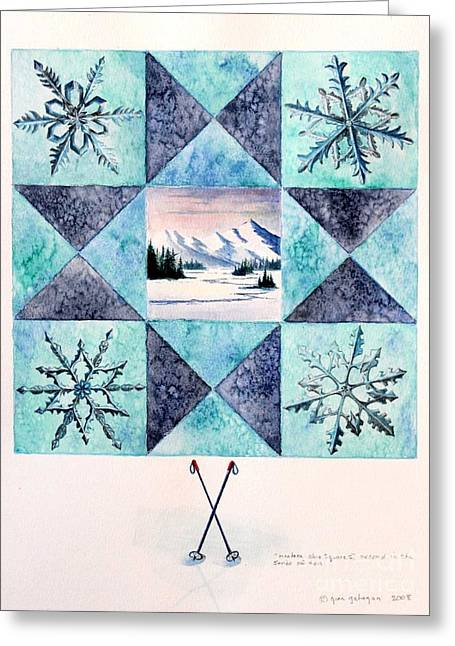 Winter Montana/ohio Square. Full Picture Greeting Card by Gina Gahagan