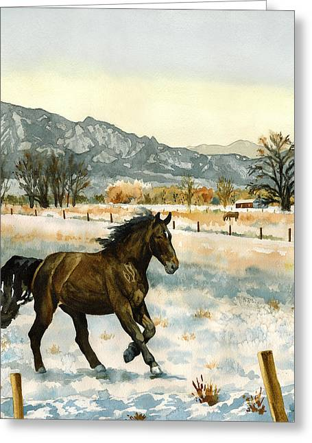 Winter Mood Greeting Card by Anne Gifford