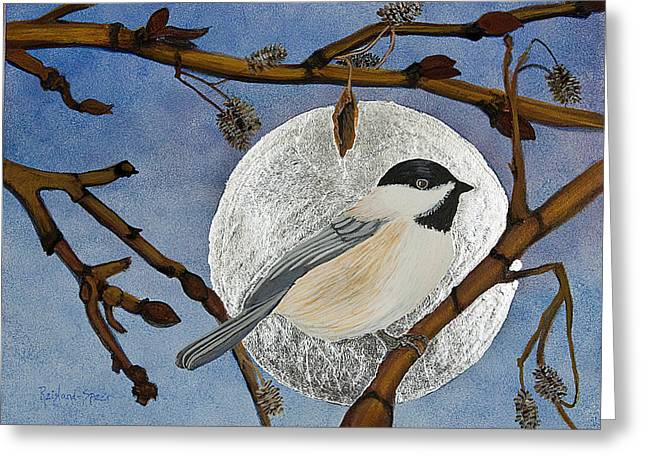Winter Moon Greeting Card by Amy Reisland-Speer