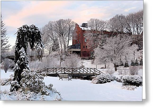 Winter Morning Color Greeting Card by Janice Drew
