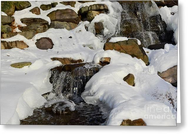 Winter Mountain Stream Greeting Card