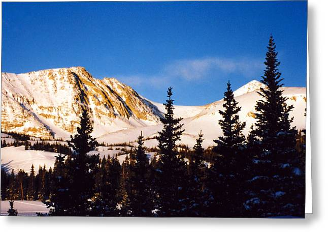 Winter Mountain Greeting Card