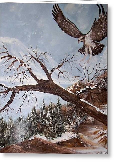 Winter Nesting Greeting Card by Martha Mullins