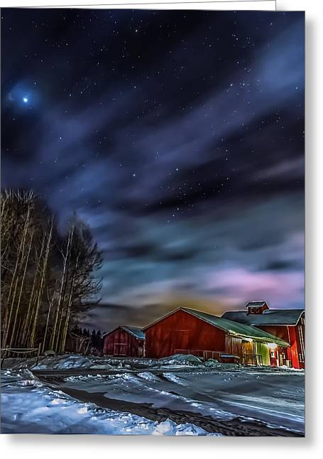Greeting Card featuring the photograph Winter Night by Rose-Maries Picturtes