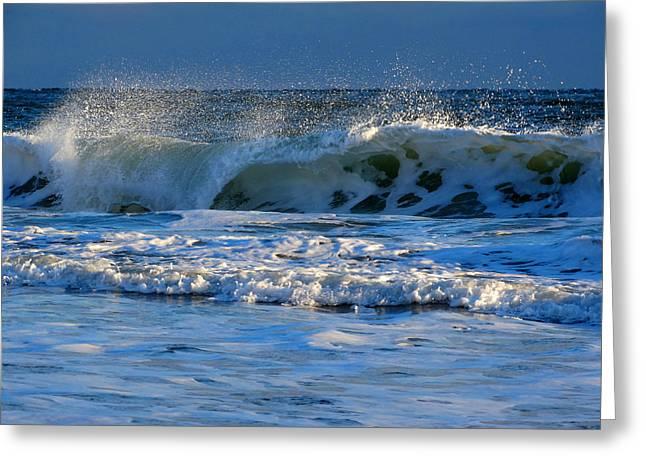 Winter Ocean At Nauset Light Beach Greeting Card