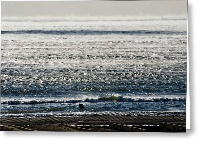 Winter Ocean Rockaway Beach Greeting Card