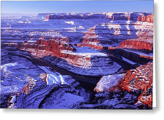 Winter Of Dead Horse Point Greeting Card