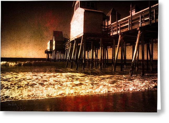 Winter Old Orchard Beach Greeting Card by Bob Orsillo