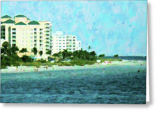 Winter On Ft Myers Beach Greeting Card