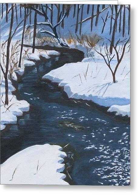 Winter On Penns Creek Greeting Card