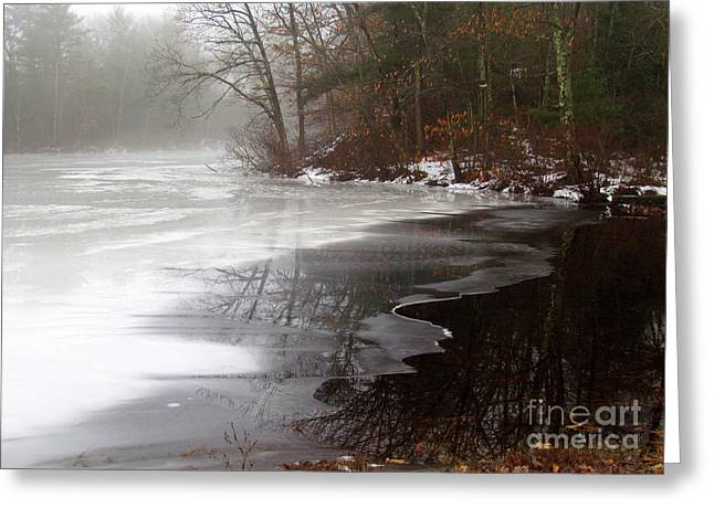 Winter On Tarklin Pond Greeting Card