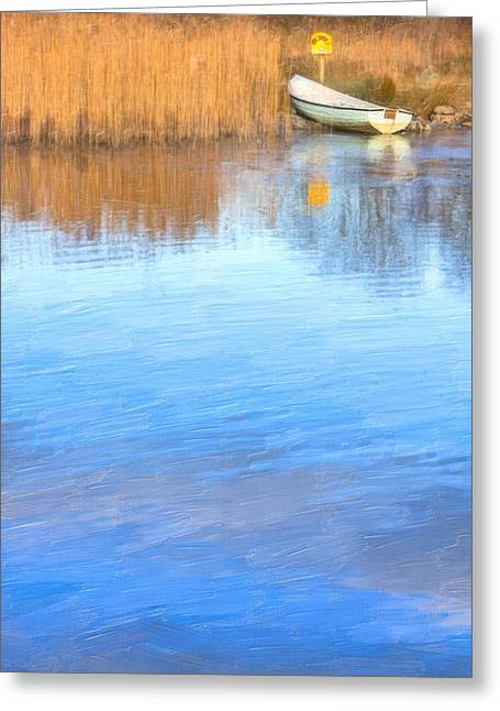 Winter On The Corrib In Galway Greeting Card by Mark Tisdale