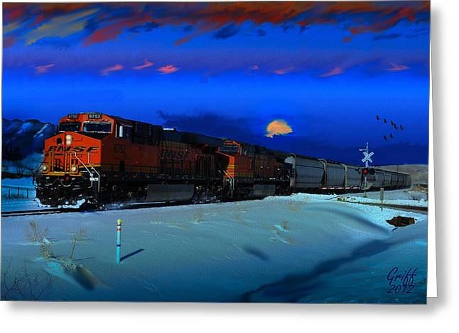 Winter On The Joint Line Of Colorado Greeting Card by J Griff Griffin