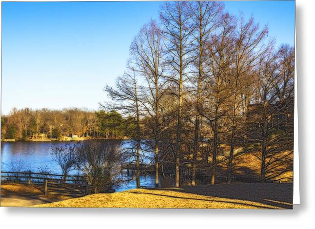 Winter On The Lake Greeting Card by Barry Jones