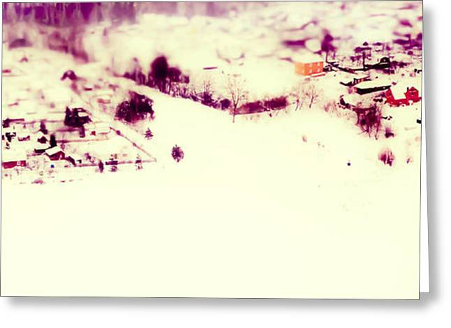 Winter Painting. Aquarel By Nature Greeting Card by Jenny Rainbow