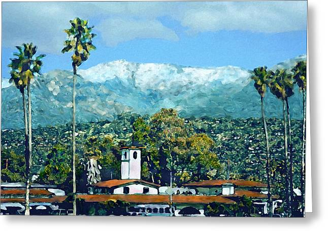 Winter Paradise Santa Barbara Greeting Card