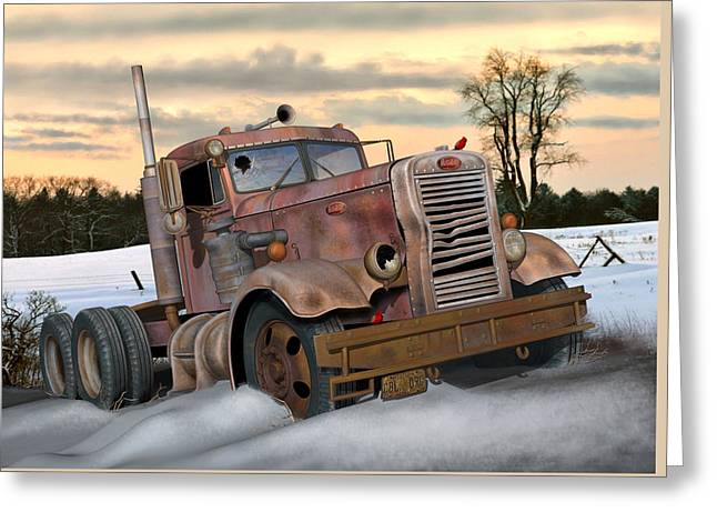 Winter Pete Greeting Card by Stuart Swartz