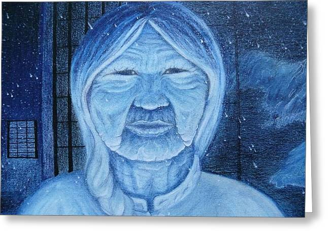 Winter Portrait Greeting Card by Jacquelyn Roberts