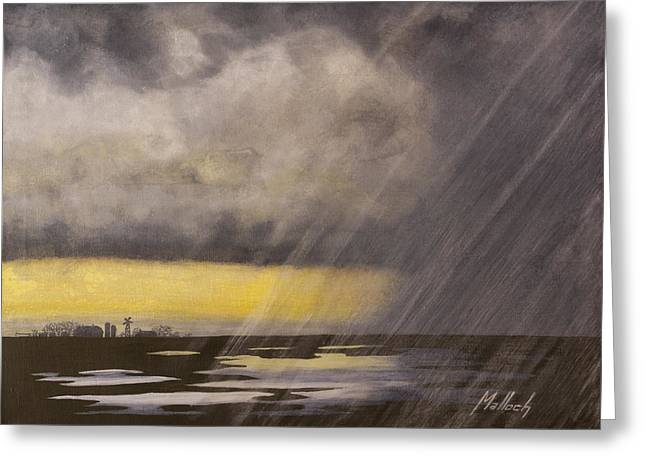 Winter Rain Greeting Card by Jack Malloch