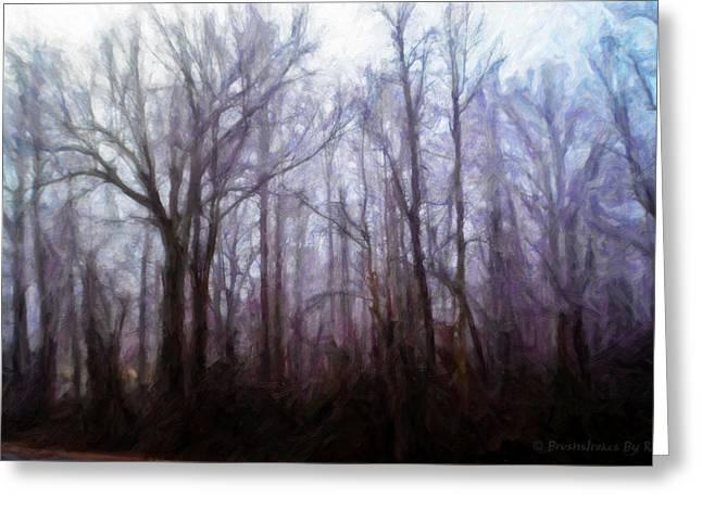 Winter Rain Greeting Card by Melody McBride