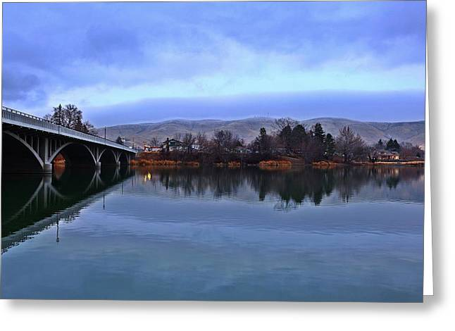 Greeting Card featuring the photograph Winter Reflection by Lynn Hopwood