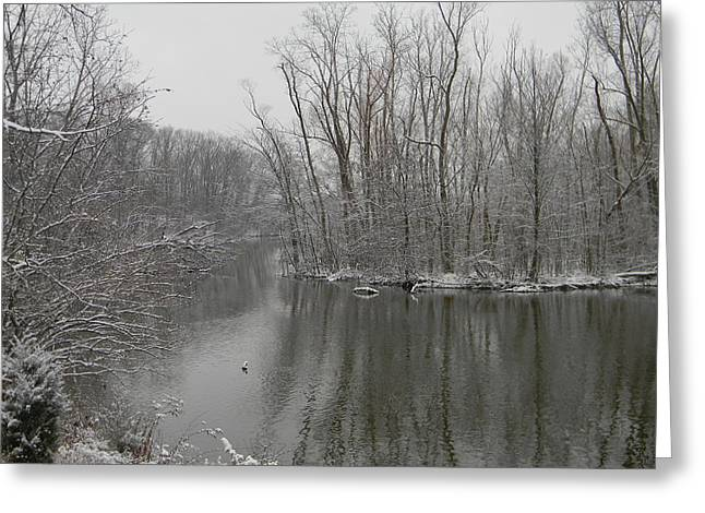 Winter Reflections 1 Greeting Card by Mark Minier