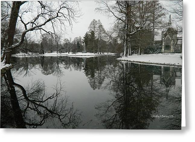 Winter Reflections 2 Greeting Card by Kathy Barney