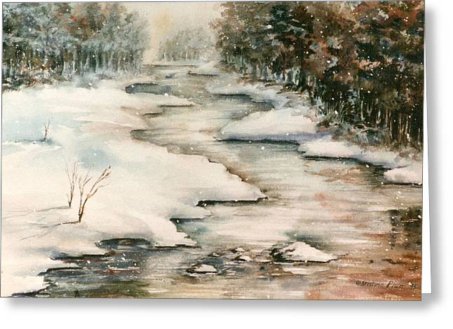 Winter Reflections Greeting Card by Kristine Plum