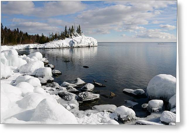 Winter Reflections Greeting Card by Sandra Updyke