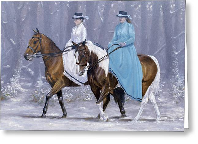 Winter Ride Greeting Card by John Silver