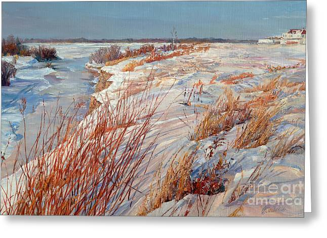 Winter River Greeting Card