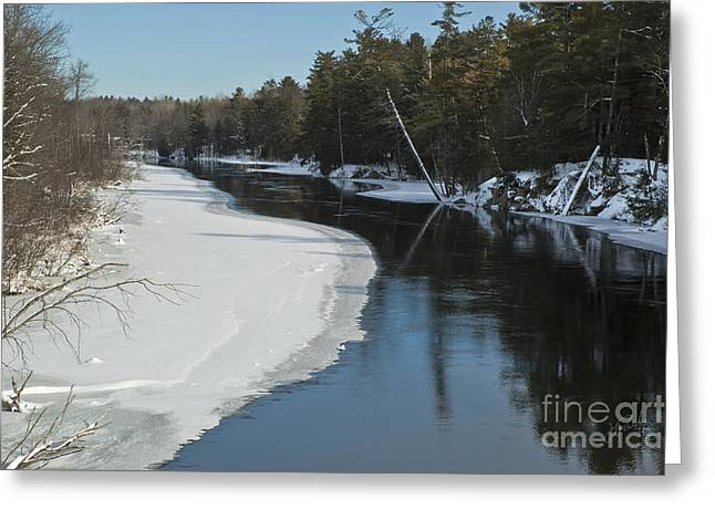 Winter River I Greeting Card by Jessie Parker