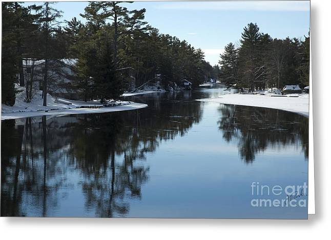 Winter River II Greeting Card by Jessie Parker