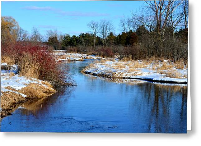 Winter River1 Greeting Card by Jennifer  King