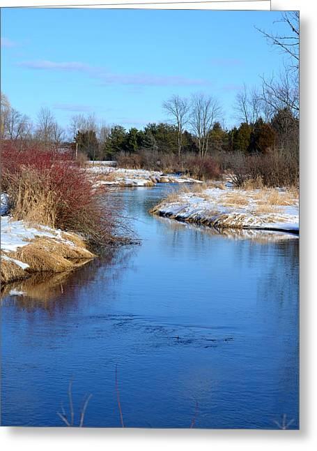 Winter River2 Greeting Card by Jennifer  King