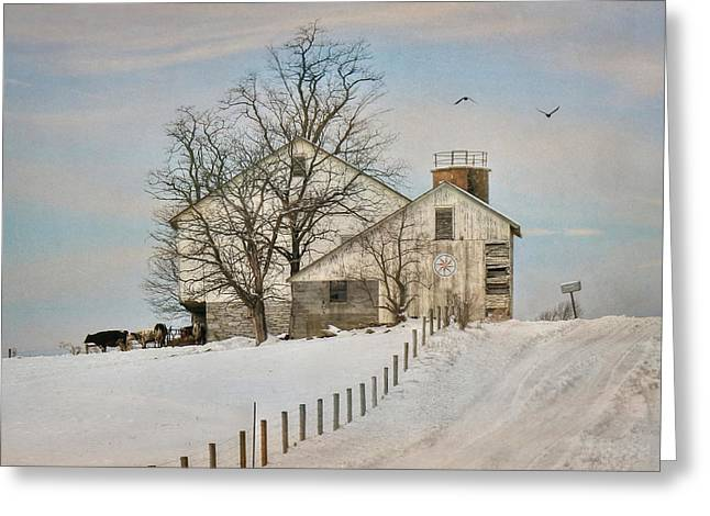 Winter Roads Greeting Card by Lori Deiter