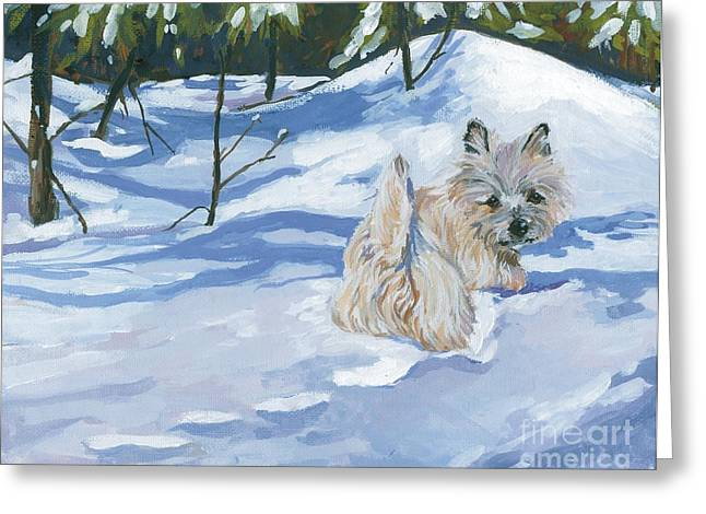Winter Romp Greeting Card