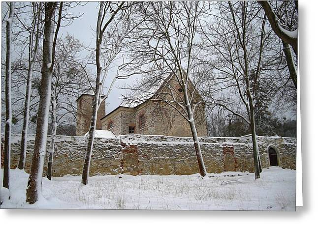 Greeting Card featuring the photograph Old Monastery by Gabriella Weninger - David