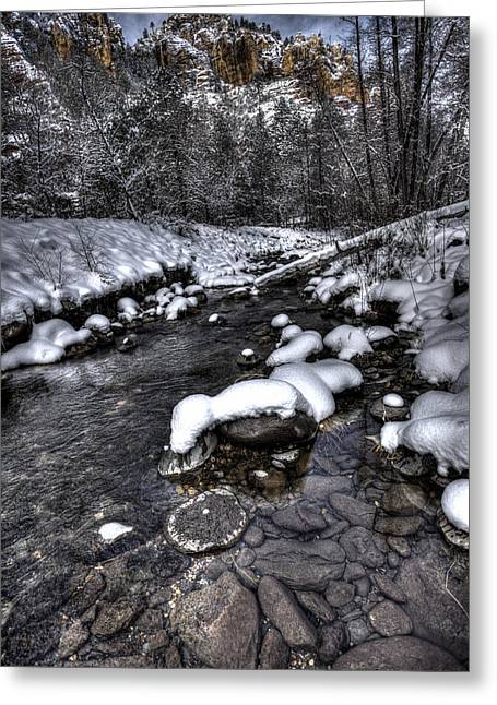 Winter Scene Greeting Card by Bill Cantey