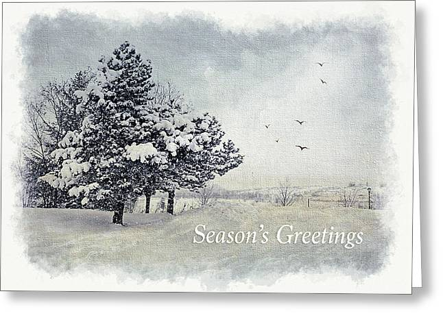 Winter Scene Greeting Card Greeting Card by Julie Palencia