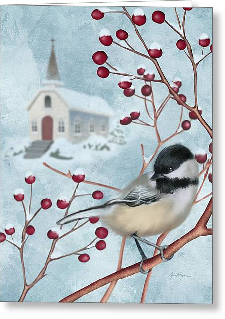 Winter Scene I Greeting Card by April Moen