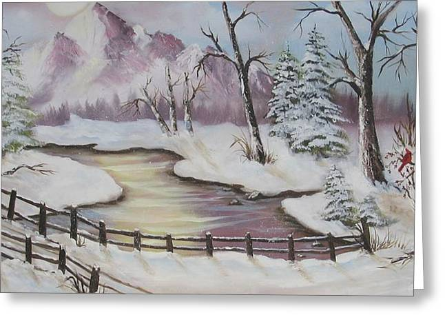 Winter Scene Greeting Card by Joni McPherson
