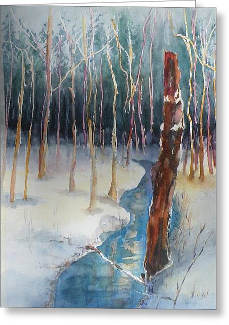 Winter Scene Greeting Card by Lori Chase